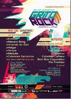 Cartaz Festival Grito Rock