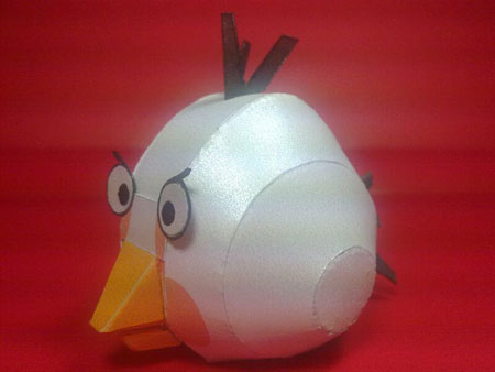 White Angry Birds Papercraft