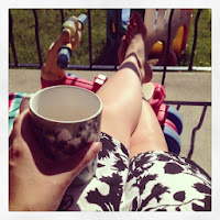 tea, relaxing, summer, porch, mom