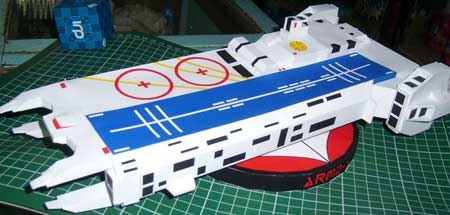 Macross Papercraft ARMD1 Space Carrier