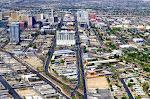 """Blick auf den """"alten"""" Teil der Stadt, Downtown Las Vegas"""
