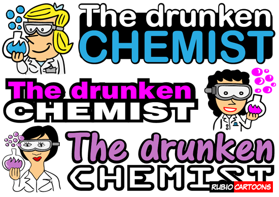 FUNNY LOGO DESIGN FOR THE DRUNKEN CHEMIST