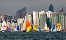 Hong Kong sailboats- sailing around island race