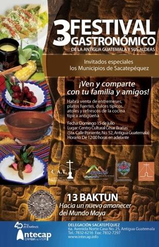 Festival Gastronómico 2012, La Antigua Guatemala y sus aldeas en su tercera edición