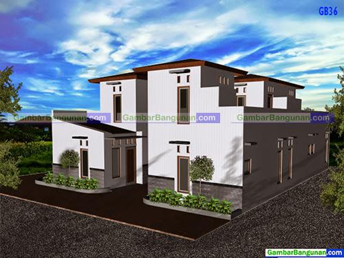 desain rumah bedeng minimalis 2 lantai