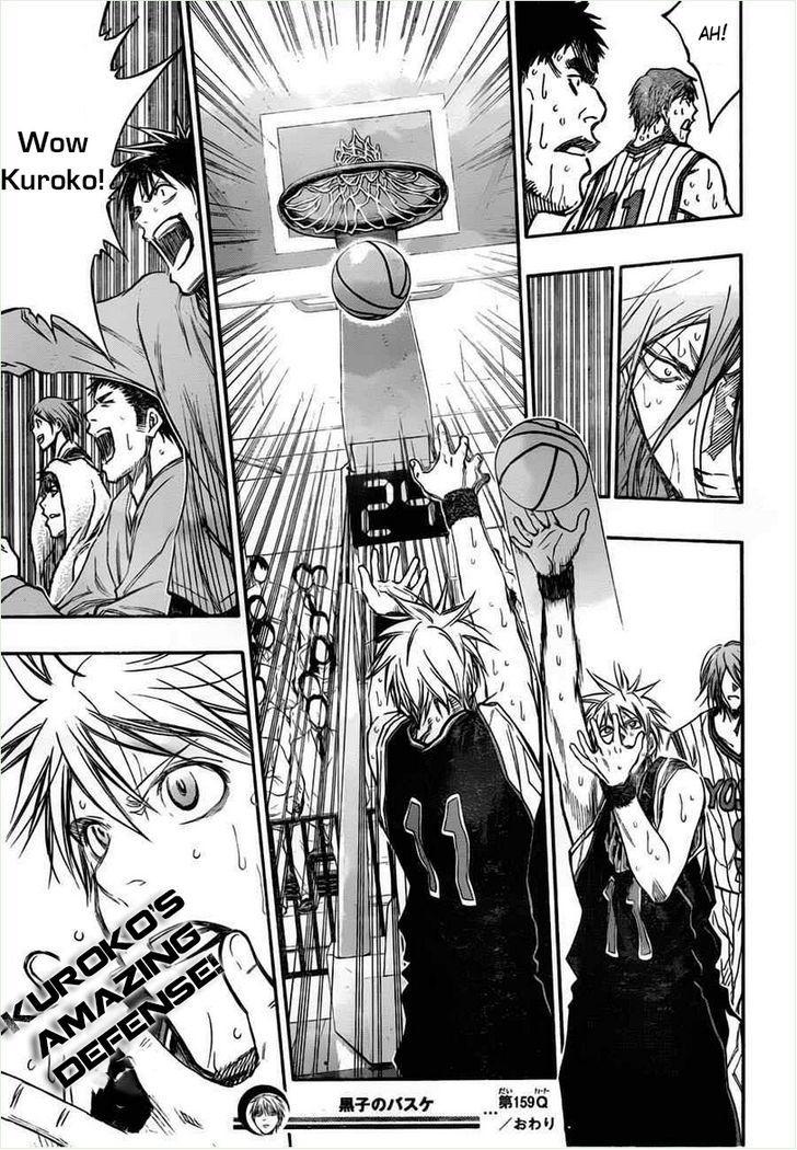 Kuroko no Basket Manga Chapter 159 - Image 18
