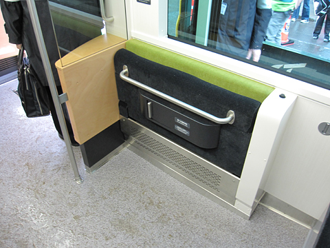 札幌市電 A1201号 車椅子スペース