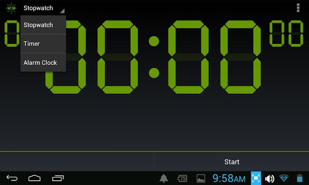 โปรแกรมนาฬิกาจับเวลา,นาฬิกานับถอยหลัง แอนดรอยด์ | Digital Timer & Stopwatch