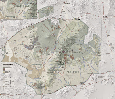 Mojave National Preserve Map Brochure map at high resolution