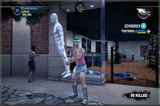 Chuck со статуей из Dead Rising 2