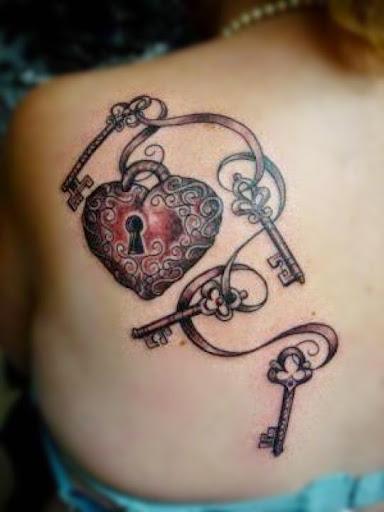 Key To My Heart Tattoo Designs 32 Beautiful Lock And ...