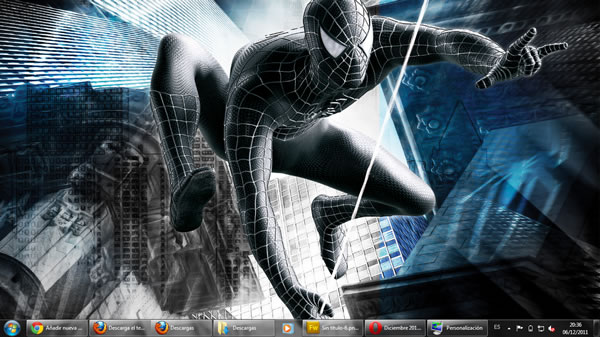 pelicula amazing spiderman tema windows7