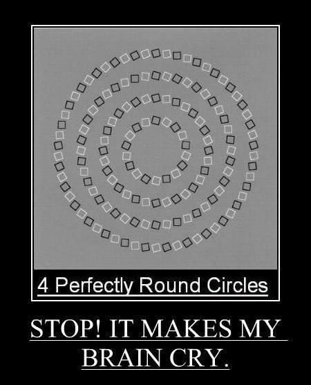 Optical Illusion : Four Perfectly Round Circle