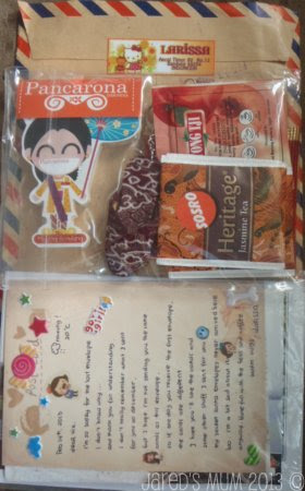 Indonesia, swapping, postcards, souvenirs
