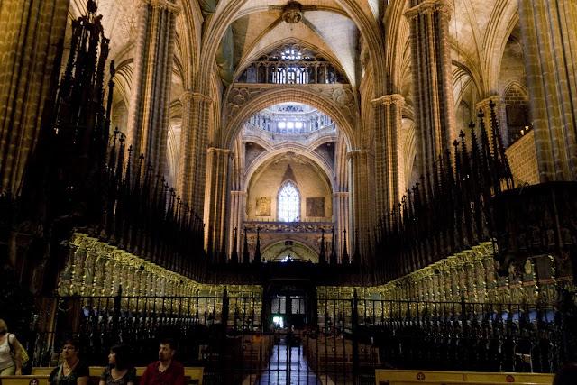 El coro de la Catedral de Barcelona