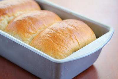 Hokkaido Milk Toast in a baking pan
