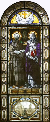 Vetrata di San Francesco e Santa Caterina