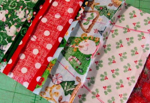 arvore natal com tecidos