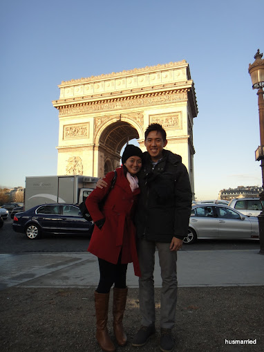 Mr. & Mrs Hu at the Arc of Triumph