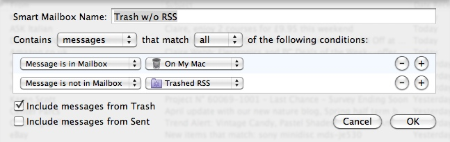 Trash w/o RSS feeds