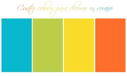 cuatro colores para decorar en verano