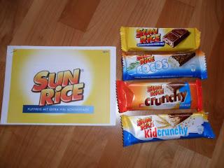 Sun Rice testen Schokolade Produkte