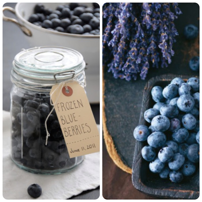Deep Blue Frozen Blueberries