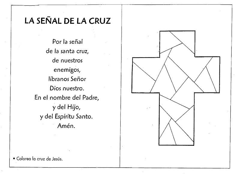 Etiquetas: Señal de la Cruz para colorear