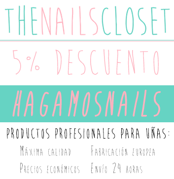 Ir a The Nails Closet para usar este descuento :D