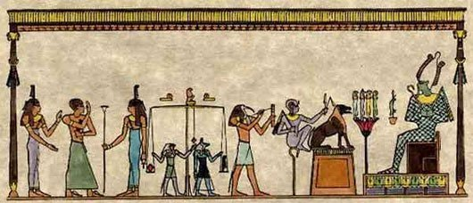 Nếu người đó thuần khiết và thật thà, trái tim sẽ nặng bằng với chiếc lông vũ. Lúc này, họ sẽ được bước vào vương quốc của Thần Osiris