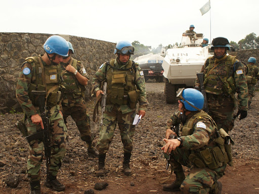 Les casques bleus protégeant la zone de Munigi. Photo Monusco/Jonathan Lorillard