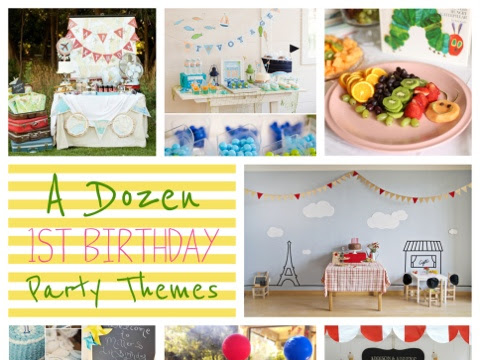 A Dozen 1st Birthday Party Themes (that don't involve cartoons!)