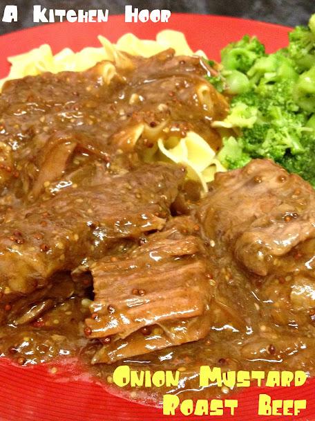 Onion Mustard Roast Beef