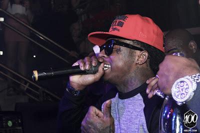 Imagen de Lil Wayne y Busta Rhymes en una fiesta en Miami