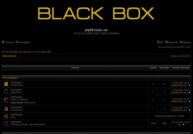 Dark Black Free Phpbb Style Theme Template