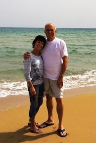 Joy and Mike Stanko at beach about an hour south of Catania