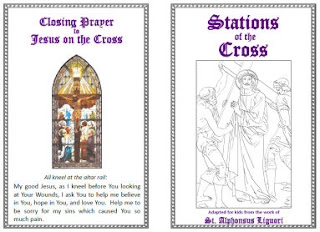 Vibrant image throughout printable stations of the cross