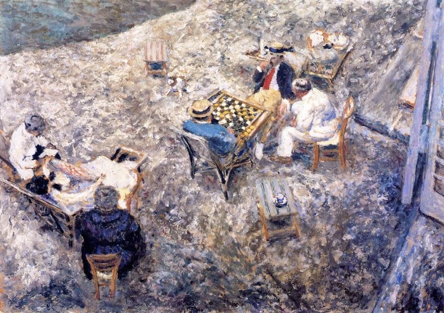 Édouard Vuillard - A Game of Draughts