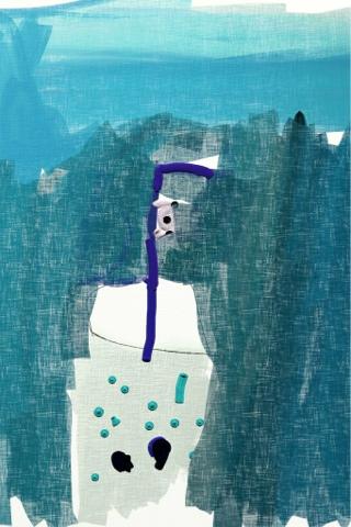 Kuusivuotiaan lapsen digimaalaus - 6-year-old child's digital painting