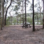 The picnic table are Little Mountain campground
