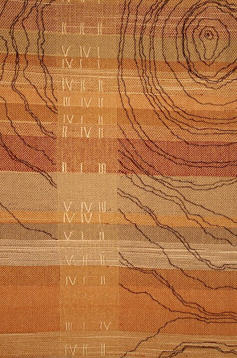 """Growth Rings"" woven wall hanging by artist Melissa Whitwam."