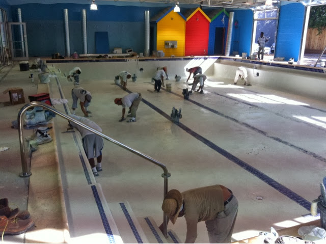 pool construction at pengu