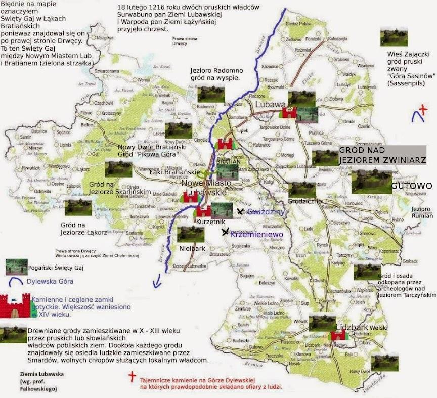 Ziemia Lubawska - mapa