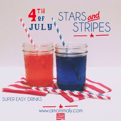 New Post! Stars and Stripes: Super Easy Drinks for the 4th of July via amommaly.com