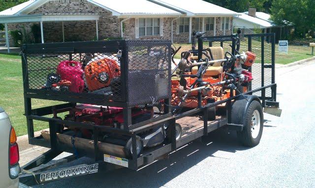 Lawn care enclosed trailers circuit diagram maker for Garden maintenance trailer