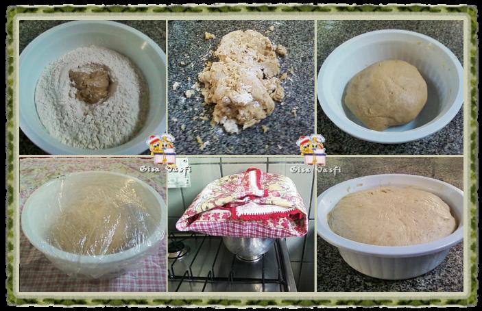Deixando a massa de pão crescer