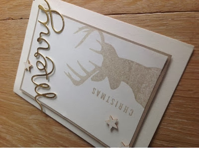 Stampin up Formen Worte Merry