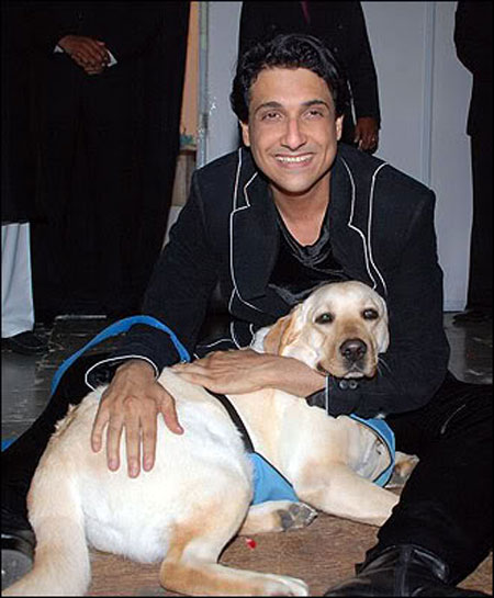Shiamak Davar and a dog