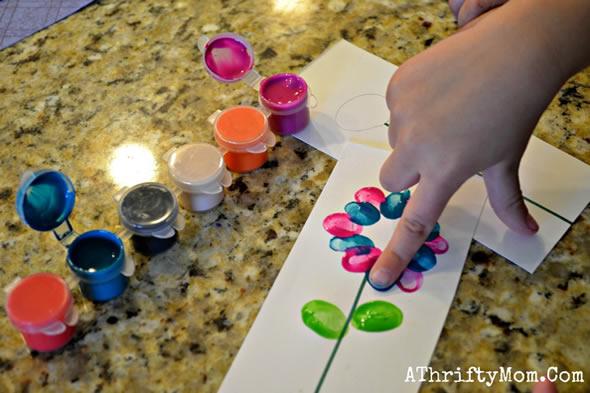 Pinte com os dedos