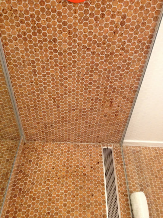 Cork mosaic tiles bath tiles cork flooring wall for Cork flooring on walls